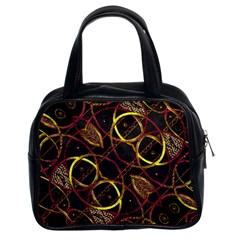 Luxury Futuristic Ornament Classic Handbag (two Sides)