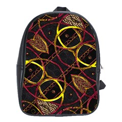Luxury Futuristic Ornament School Bag (large)