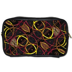 Luxury Futuristic Ornament Travel Toiletry Bag (Two Sides)