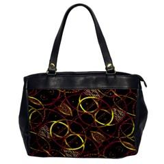 Luxury Futuristic Ornament Oversize Office Handbag (one Side)