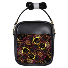Luxury Futuristic Ornament Girl s Sling Bag