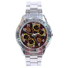 Luxury Futuristic Ornament Stainless Steel Watch
