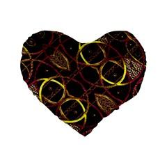 Luxury Futuristic Ornament 16  Premium Heart Shape Cushion
