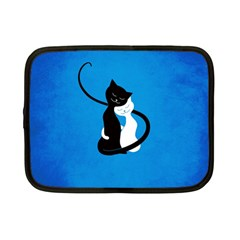Blue White And Black Cats In Love Netbook Sleeve (small)