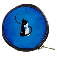 Blue White And Black Cats In Love Mini Makeup Case