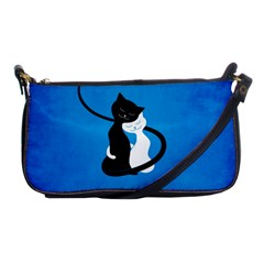 Blue White And Black Cats In Love Evening Bag
