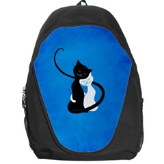 Blue White And Black Cats In Love Backpack Bag