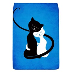 Blue White And Black Cats In Love Removable Flap Cover (Large)