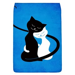 Blue White And Black Cats In Love Removable Flap Cover (small)