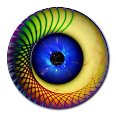 Eerie Psychedelic Eye 8  Mouse Pad (round)