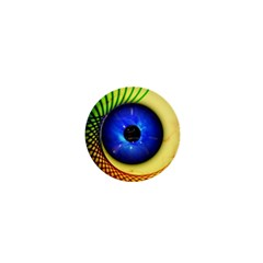 Eerie Psychedelic Eye 1  Mini Button Magnet