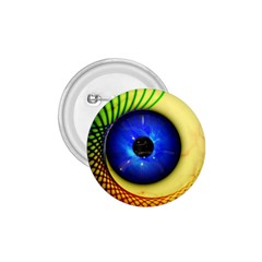 Eerie Psychedelic Eye 1 75  Button