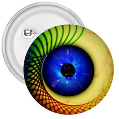 Eerie Psychedelic Eye 3  Button
