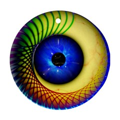 Eerie Psychedelic Eye Round Ornament