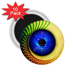 Eerie Psychedelic Eye 2 25  Button Magnet (10 Pack)