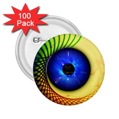 Eerie Psychedelic Eye 2.25  Button (100 pack)