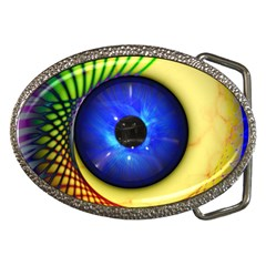 Eerie Psychedelic Eye Belt Buckle (oval)