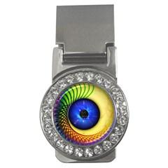 Eerie Psychedelic Eye Money Clip (CZ)