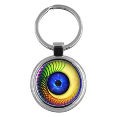 Eerie Psychedelic Eye Key Chain (Round)