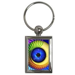 Eerie Psychedelic Eye Key Chain (rectangle)