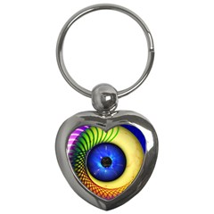 Eerie Psychedelic Eye Key Chain (Heart)