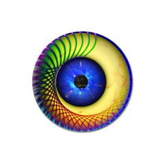Eerie Psychedelic Eye Magnet 3  (round)