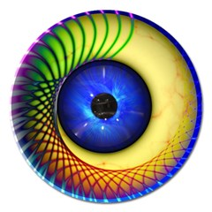 Eerie Psychedelic Eye Magnet 5  (round)
