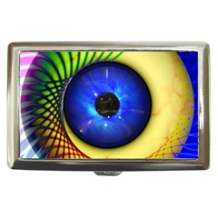 Eerie Psychedelic Eye Cigarette Money Case