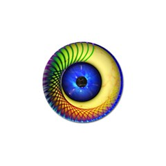 Eerie Psychedelic Eye Golf Ball Marker 10 Pack