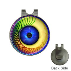 Eerie Psychedelic Eye Hat Clip with Golf Ball Marker