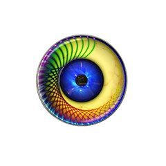 Eerie Psychedelic Eye Golf Ball Marker 4 Pack (for Hat Clip)
