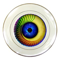 Eerie Psychedelic Eye Porcelain Display Plate
