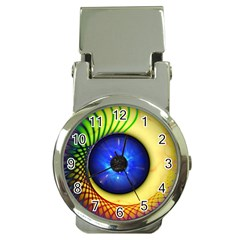 Eerie Psychedelic Eye Money Clip with Watch