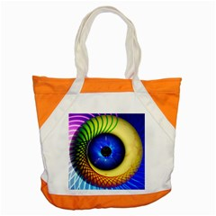 Eerie Psychedelic Eye Accent Tote Bag