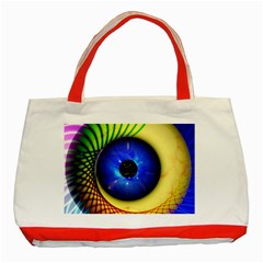 Eerie Psychedelic Eye Classic Tote Bag (Red)
