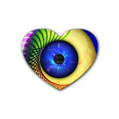 Eerie Psychedelic Eye Drink Coasters 4 Pack (Heart)