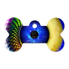 Eerie Psychedelic Eye Dog Tag Bone (one Sided)