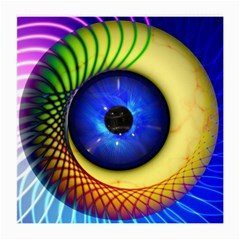 Eerie Psychedelic Eye Glasses Cloth (medium, Two Sided)