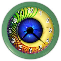 Eerie Psychedelic Eye Wall Clock (Color)