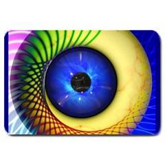 Eerie Psychedelic Eye Large Door Mat