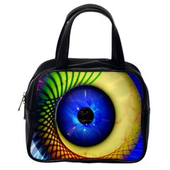 Eerie Psychedelic Eye Classic Handbag (one Side)