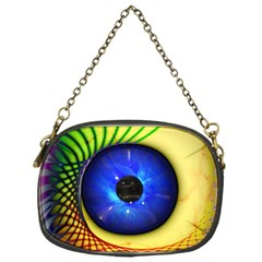Eerie Psychedelic Eye Chain Purse (one Side)