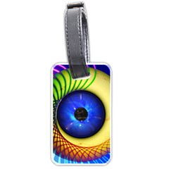 Eerie Psychedelic Eye Luggage Tag (Two Sides)