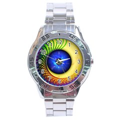 Eerie Psychedelic Eye Stainless Steel Watch