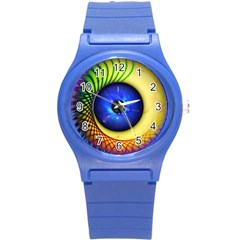 Eerie Psychedelic Eye Plastic Sport Watch (small)
