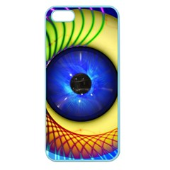 Eerie Psychedelic Eye Apple Seamless Iphone 5 Case (color)