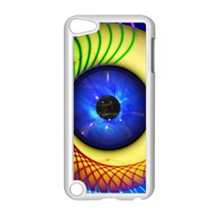 Eerie Psychedelic Eye Apple iPod Touch 5 Case (White)