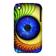Eerie Psychedelic Eye Apple iPhone 3G/3GS Hardshell Case (PC+Silicone)