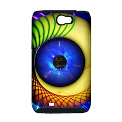 Eerie Psychedelic Eye Samsung Galaxy Note 2 Hardshell Case (PC+Silicone)