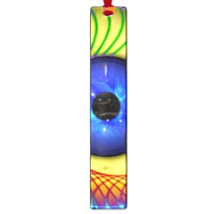Eerie Psychedelic Eye Large Bookmark